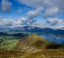 Derwent Water from Newlands Horseshoe, Lake District by a h