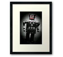 Dark Metal Robot - Oil Framed Print