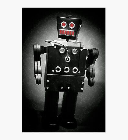 Dark Metal Robot - Oil Photographic Print
