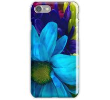 Blue and Green Flowers  iPhone Case/Skin