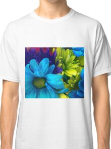 Blue and Green Flowers  Classic T-Shirt