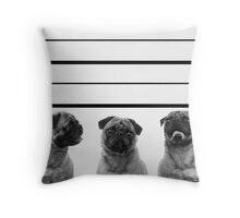 Police Line Up Throw Pillow