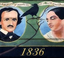 The Famous Poet Edgar Allan Poe & Wife Virginia by RickDavis