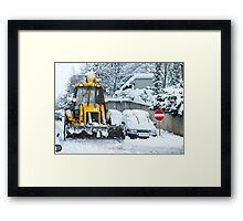 Heavy Snow Framed Print
