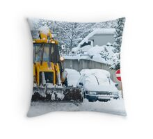Heavy Snow Throw Pillow