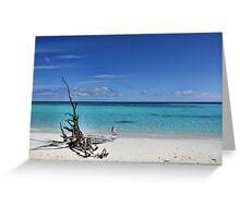 Island Sculpture Greeting Card