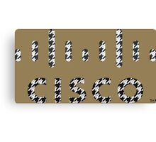 CISCO LOGO HOUNDSTOOTH 2 Canvas Print