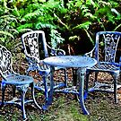 tea for 3 in the woods by marcwellman2000