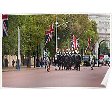 Horse Guards and Police Escort in The Mall Poster
