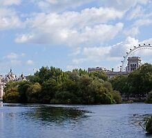 London Eye and Horseguards by Sue Robinson