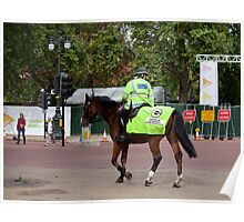 Mounted Police Officer in London Poster