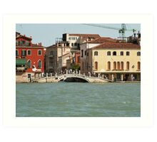 Bridge in Venice Art Print