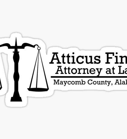 To Kill A Mockingbird: Atticus Finch, Attorney at Law Sticker