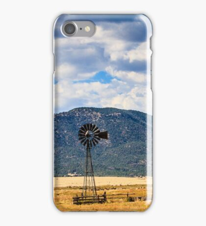 Windmill New Mexico iPhone Case/Skin