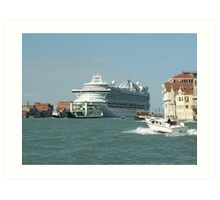 Cruise to Venice Art Print
