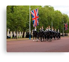 Household Cavalry in The Mall Canvas Print