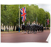 Household Cavalry in The Mall Poster