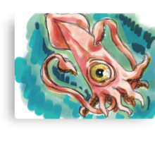 Lovecraft Hated Seafood Canvas Print