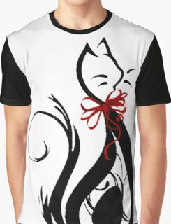 Swirly Cat Graphic T-Shirt