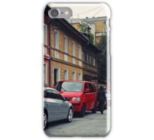 The Street and the cars iPhone Case/Skin