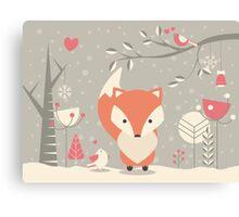 Christmas baby fox 03 Canvas Print