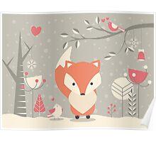 Christmas baby fox 03 Poster