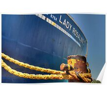 Lady Rosalind II at Potter's Cay in Nassau, The Bahamas Poster