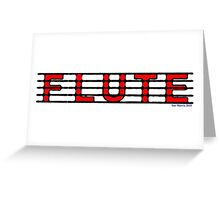 Flute Red Greeting Card