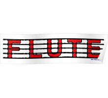 Flute Red Poster