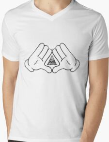 illuminati Mens V-Neck T-Shirt