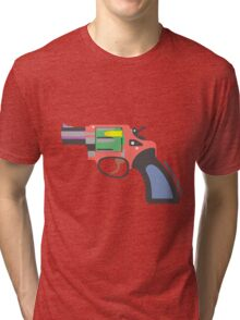 GUNS DON'T KILL, BULLETS DO Tri-blend T-Shirt