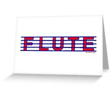 Flute Blue and Red Greeting Card