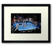 Barney hopes his first referee job--Ultimate Cage Fighting --isn't for the birds. Framed Print