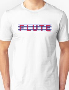Flute Blue and Red Unisex T-Shirt