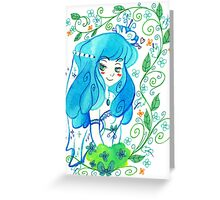 Blue Bride Greeting Card