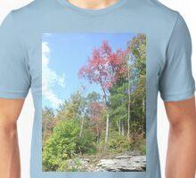 Pretty Rustic Appalachia Scene Rock & Trees Unisex T-Shirt