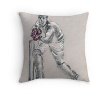 Wicket Keeper - drawing Throw Pillow