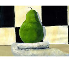 Pear on towel Photographic Print
