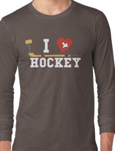 I Love Hockey Long Sleeve T-Shirt