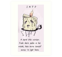 MBTI GHOSTS AND GHOULS - INTP CANDLE SPIRIT Art Print
