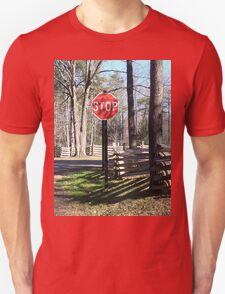 Stop Sign in a Rustic West Virginia Park T-Shirt