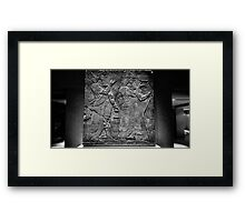 King Ashurnasirpal II and genius Framed Print