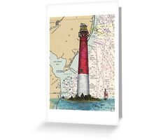 Barnegat Lighthouse NJ Nautical Chart Cathy Peek Greeting Card