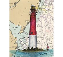 Barnegat Lighthouse NJ Nautical Chart Cathy Peek Photographic Print