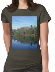 Scenic Glassy Mountain Lake Womens Fitted T-Shirt