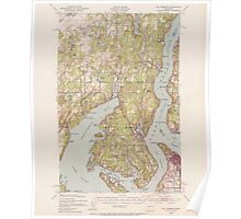 USGS Topo Map Washington State WA Gig Harbor 241263 1942 62500 Poster