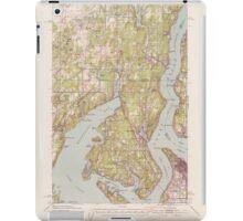 USGS Topo Map Washington State WA Gig Harbor 241263 1942 62500 iPad Case/Skin