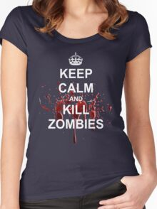 Keep Calm, Kill Zombies Women's Fitted Scoop T-Shirt