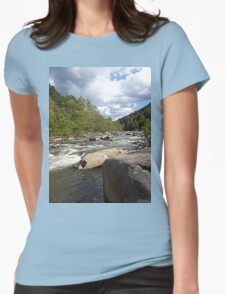Gorgeous Rustic Appalachian River Scene Womens Fitted T-Shirt