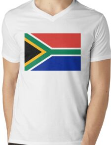 National flag of the Republic of South Africa Authentic version Mens V-Neck T-Shirt